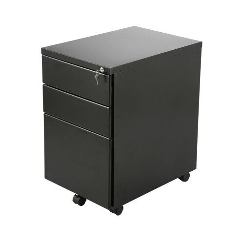 Eurostyle 3-Drawer Gordon Mobile File Cabinet
