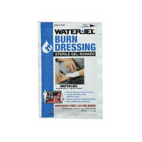 "North Safety North Safety - Water Jel Burn Products Water-Jel Dressing4"" X 4"": 068-049077 - water-jel dressing4"" x 4"""