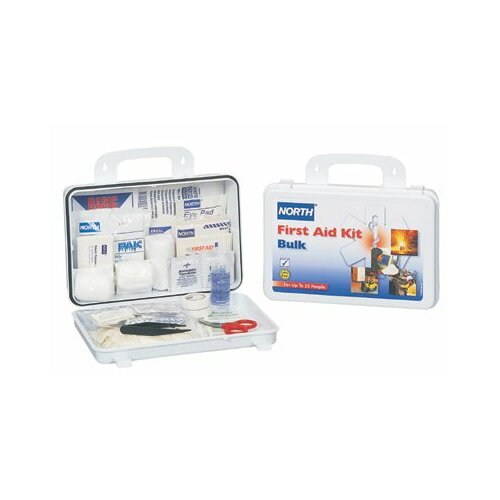 North Safety First Aid Kits - 25 person bulk first aid kit plastic case