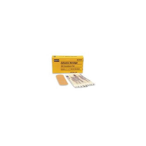 "North Safety X 3"" Latex Free Plastic Adhesive Bandage Strip (16 Per Box)"