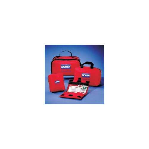 "North Safety Redi-Care 8 3/4"" X 6"" X 2 3/4"" CPR Barrier First Aid Kit"