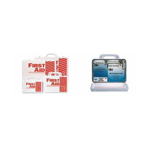 Pac-Kit 10 Person Industrial First Aid Kits - 10 person steel weatherproof first aid kit w/e