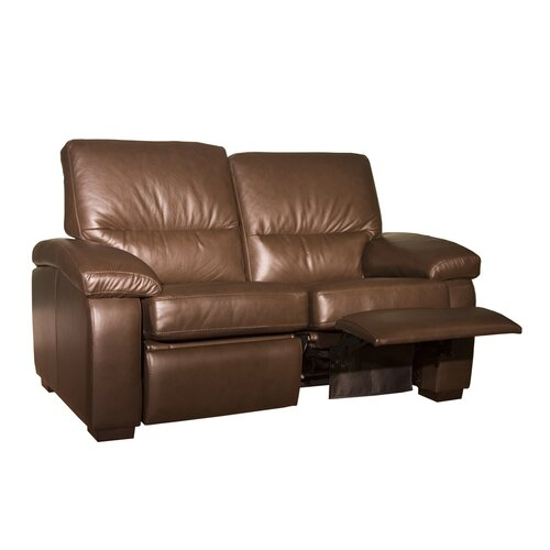 Coja Midland Leather Reclining Loveseat