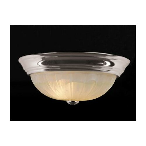 Alabaster Melon 2 Light Flush Mount