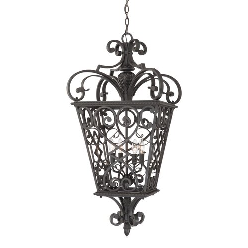 Quoizel French Quarter 4 Light Outdoor Hanging Lantern