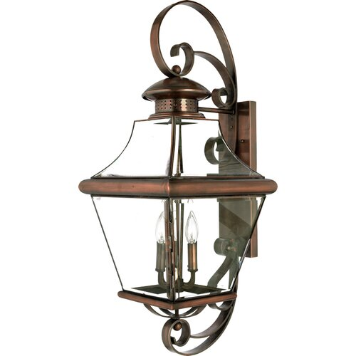 Quoizel Carleton 4 Light Outdoor Wall Lantern