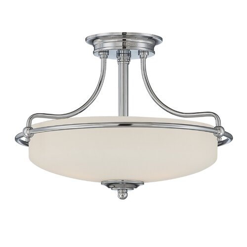 Quoizel Griffin 3 Light Semi Flush Mount