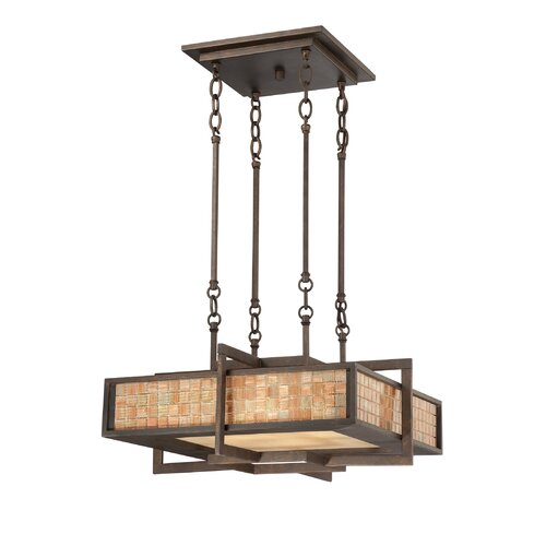 Quoizel Fixture 4 Light Contemporary Drum Pendant