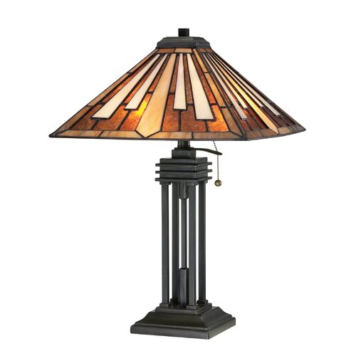 "Quoizel Tiffany 24.5"" H 2 Light Table Lamp"