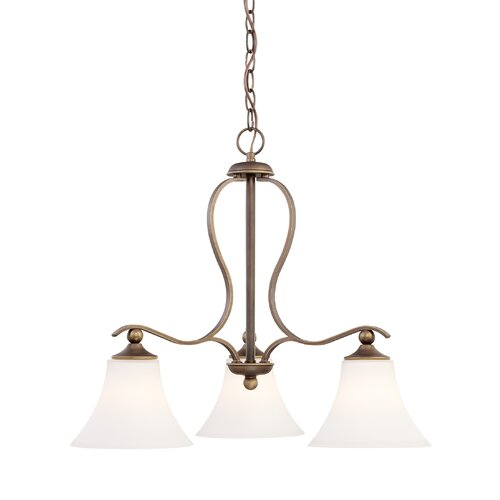 Quoizel Sophia Three Light Chandelier in Palladian Bronze