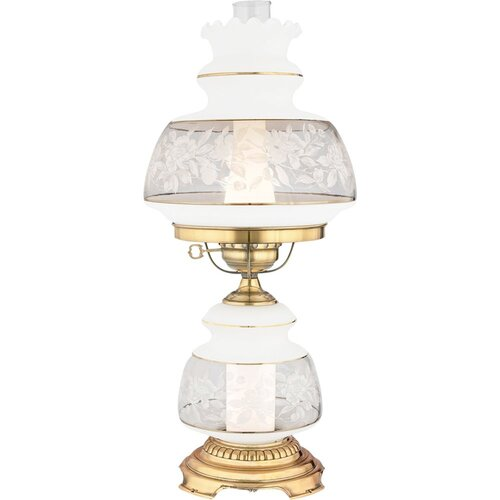 "Quoizel Satin Lace 24"" H Table Lamp"