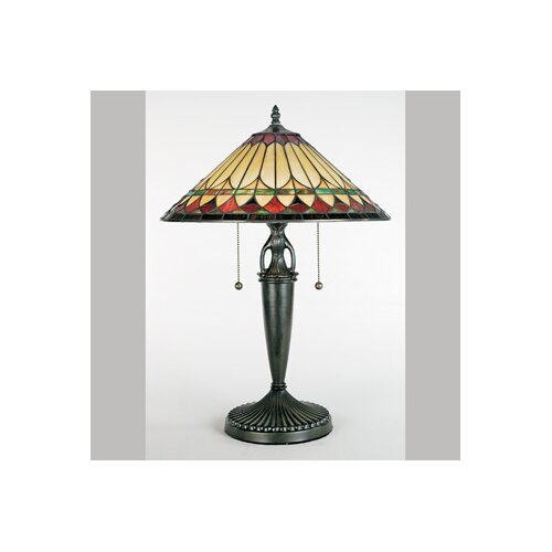 "Quoizel Westlake Tiffany 23"" H Table Lamp with Empire Shade"