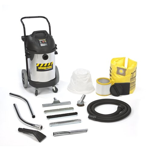 Shop-Vac 10 Gallon Stainless Steel 4.0 Peak HP Two Stage Commercial Duty Wet / Dry Vacuum