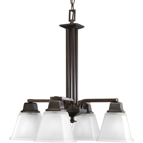North Park Down Chandelier in Venetian Bronze