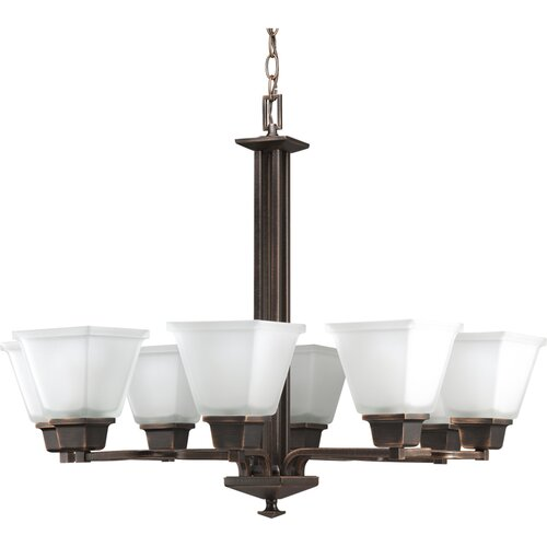 North Park Eight Light Chandelier in Venetian Bronze