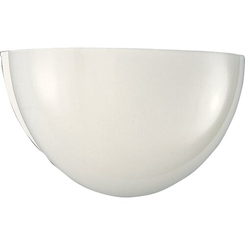 Progress Lighting White Glass Quartersphere Incandescent Wall Sconce