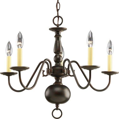 Americana 5 Light Candle Chandelier
