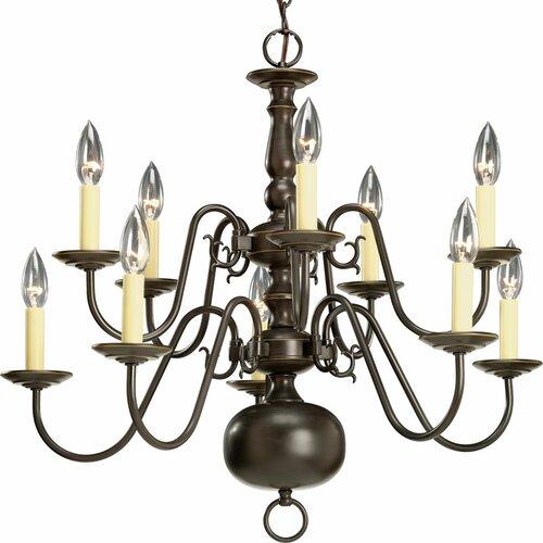 Americana 10 Light Candle Chandelier