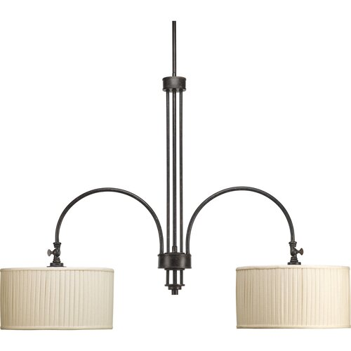 Clayton 2 Light Stem Mount Linear Chandelier
