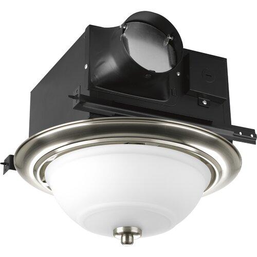 progress lighting 2 light bathroom fan with etched glass bowl. Black Bedroom Furniture Sets. Home Design Ideas