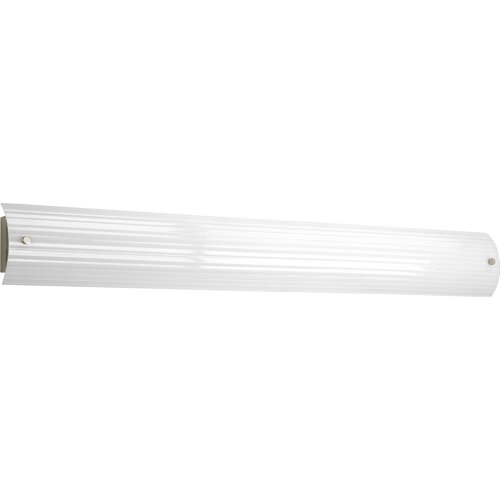 Progress Lighting 2 Light Ribbed Linear Bath Vanity Light