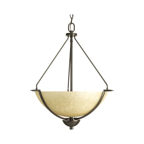 Progress Lighting Bravo 3 Light Inverted Pendant