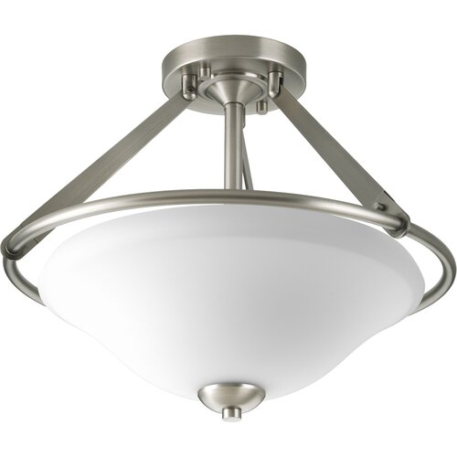 Progress Lighting Moments 3 Light Semi Flush Mount