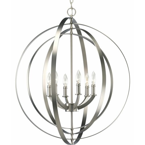 Progress Lighting Equinox 6 Light Large Foyer Pendant
