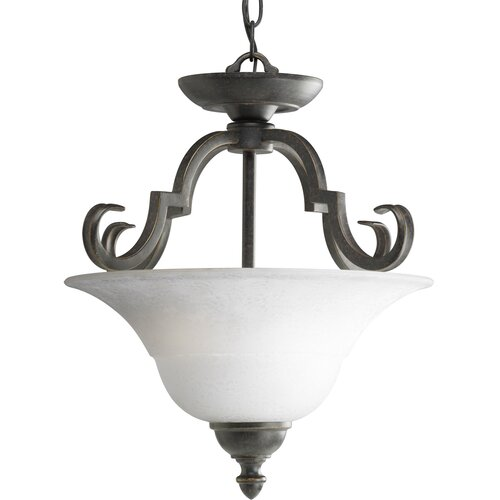 Progress Lighting Melbourne 2 Light Convertible Inverted Pendant