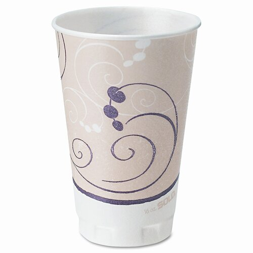 Solo Cups Company Symphony Design Trophy Foam Hot/Cold Drink Cups, 750/Carton