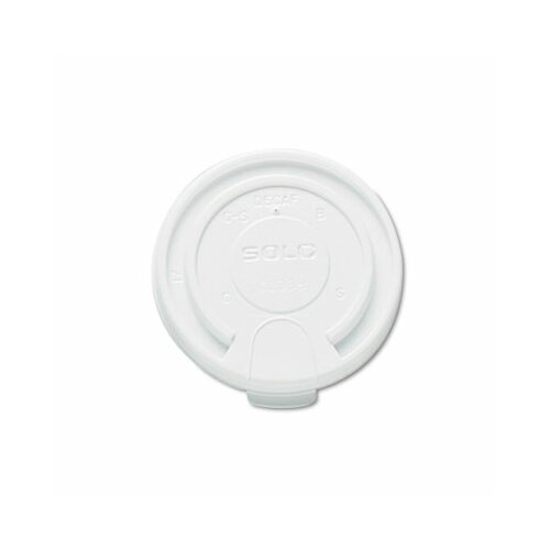 Solo Cups Company Liftback & Lock Tab Cup Lids For Foam Cups, 16 Oz, 1000/Carton