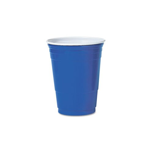 Solo Cups Company Party Cold Cups, 16 Oz., 20 Bags of 50/Carton