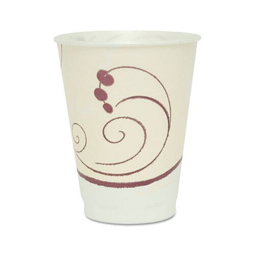Solo Cups Company Symphony Design Trophy Foam Hot/Cold Cups, 1000/Carton