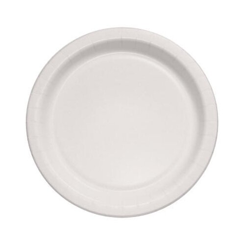 "Solo Cups 8.5"" Bare Eco-Forward Clay-Coated Paper Plates Deep Well"