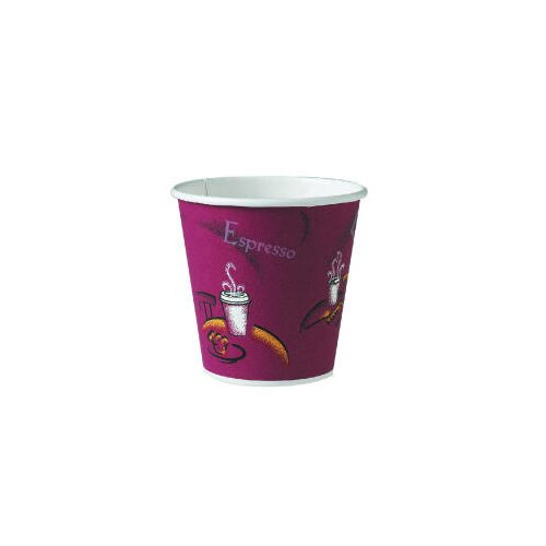 Solo Cups 10 Oz Polylined Paper Hot Drink Cups Bistro Design in Maroon