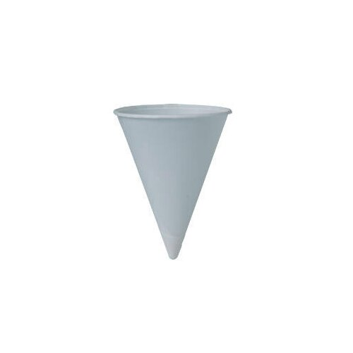 Solo Cups 4 Oz Bare Treated Paper Cone Water Cups in White