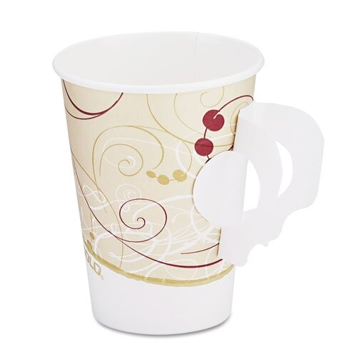 Solo Cups Company Symphony Design Hot Cups with Paper Handle