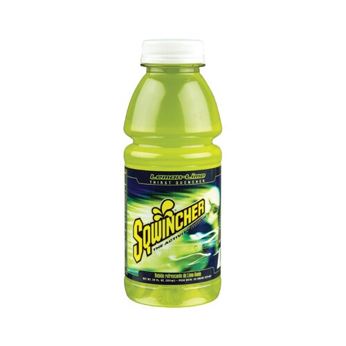 Sqwincher Lime 20 Ounce Ready-To-Drink Liquid Wide Mouth Sport Bottle (24 Per Case)
