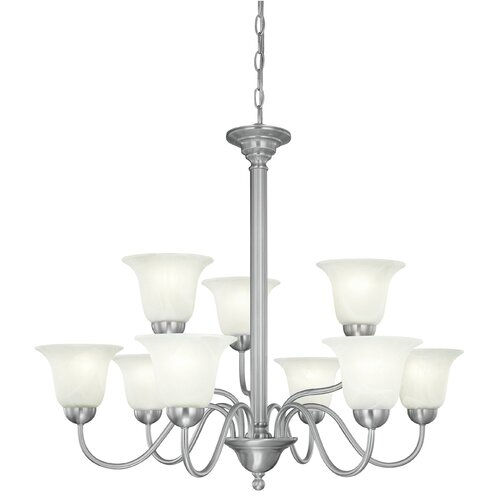 Thomas Lighting Riva 9 Light Chandelier
