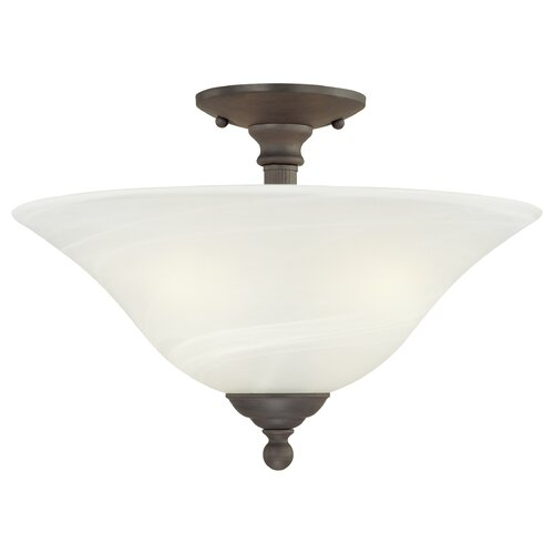 Thomas Lighting Riva 3 Light Semi Flush Mount