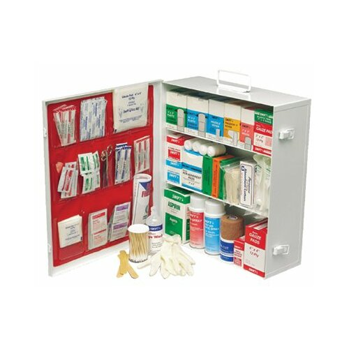 Swift First Aid Swift First Aid - Medium Industrial 180 First Aid Cabinets 3 Shelf Standard - Pumpspray W/Liner: 714-34180Lfp - 3 shelf standard - pumpspray w/liner