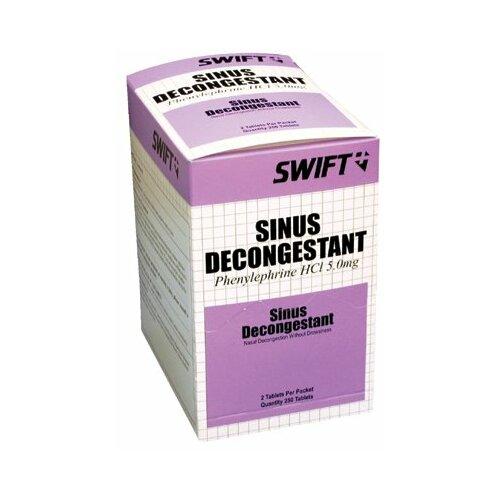 Swift First Aid Sinus Decongestant Tablets - sinus decongestant 250/bx