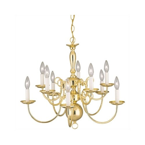 Westinghouse Lighting Williamsburg Style 10 Light Chandelier