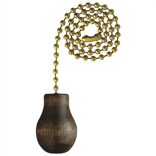 Westinghouse Lighting Walnut Wood Knob Ceiling Fan Pull Chain