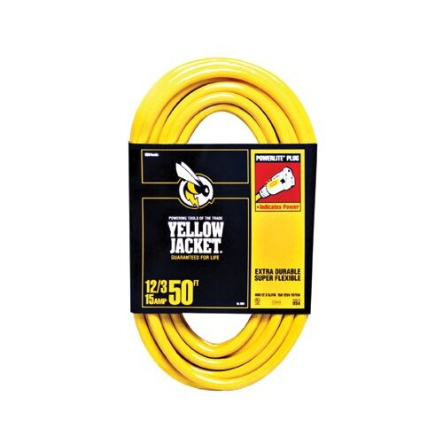 Woods Wire Woods Wire - Yellow Jacket Power Cords 100' 12/3 Sjtw/A Yellowjacket Extension C: 860-2885 - 100' 12/3 sjtw/a yellowjacket extension c