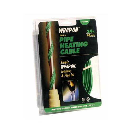 Wrap-On 15' Pipe Heating Cables with Thermostat