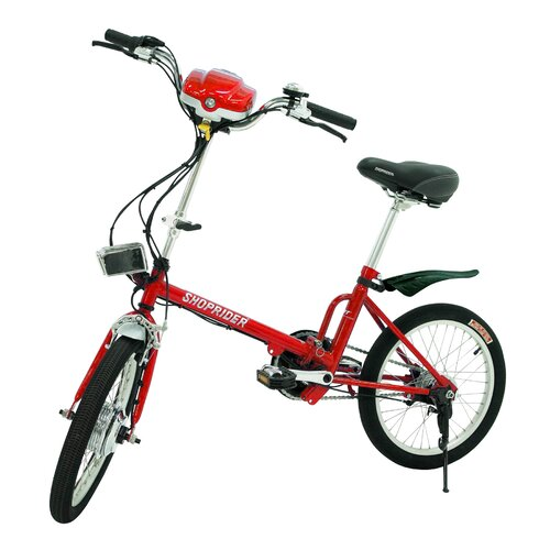 "Shoprider Boy's 18"" Sunrunner Power Assist Folding Electric Bike"