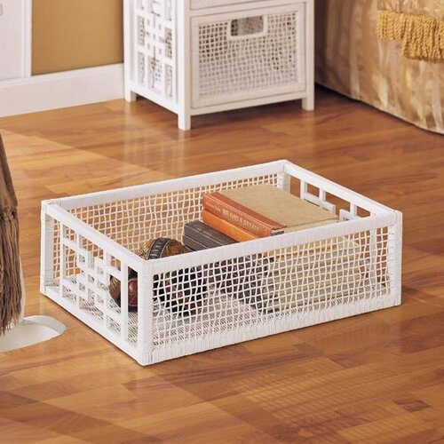OIA Solar Rectangular Storage Basket in White