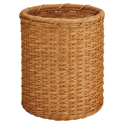 OIA Natural Round Wicker Wastebasket
