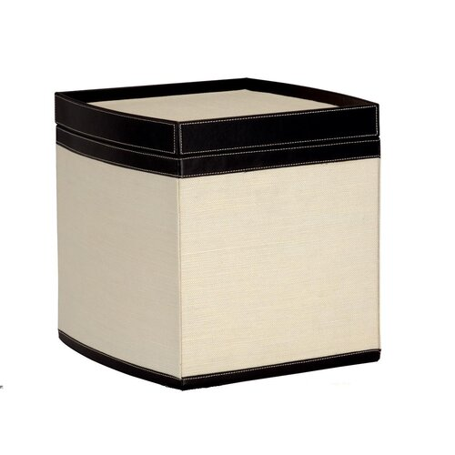OIA Jute Stackable Storage Box in Dark Brown and Linen